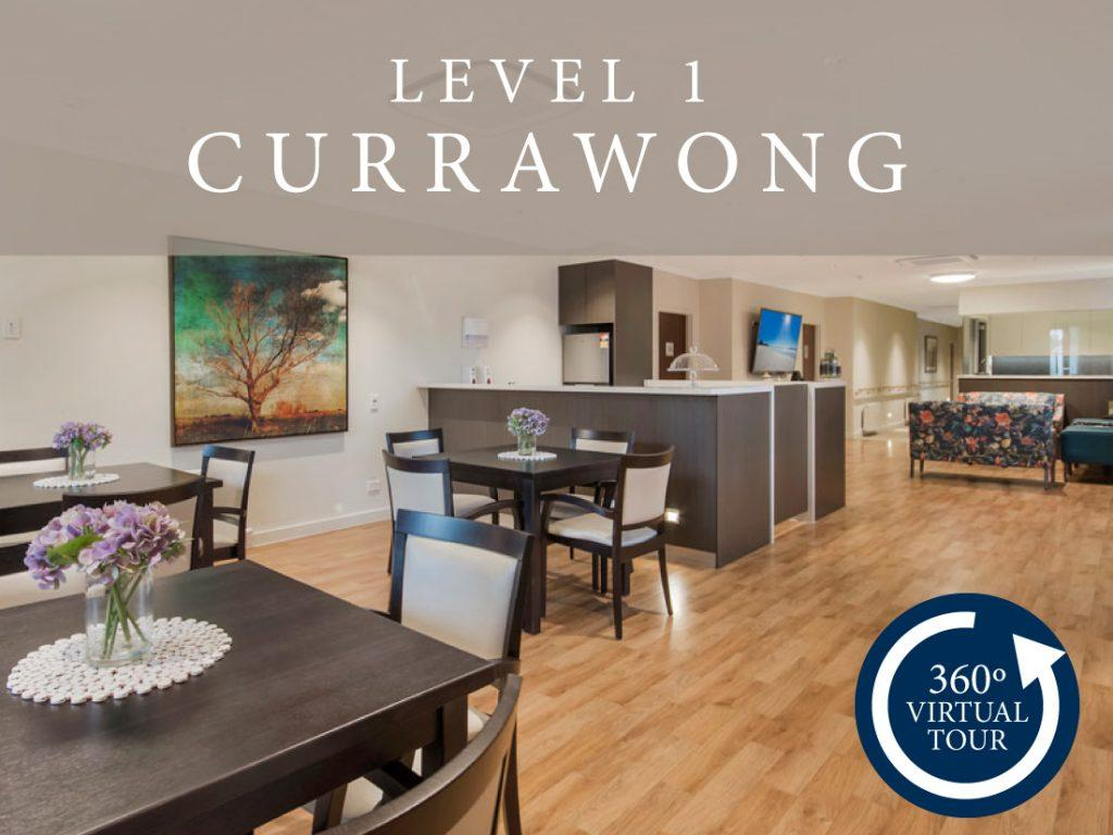 Virtual tour of the aged care facility level 1 Currawong.