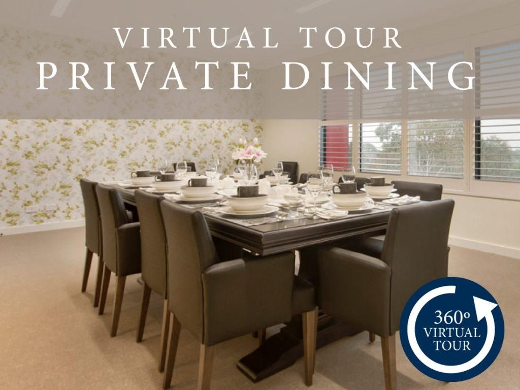 Virtual tour of our private dining area for aged care residents.