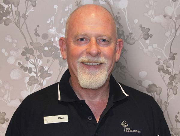 Mick Bodger, OH&S staff member for our seniors village.