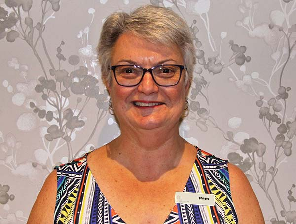 Pam Mickle, Office Manager for our aged care centre.