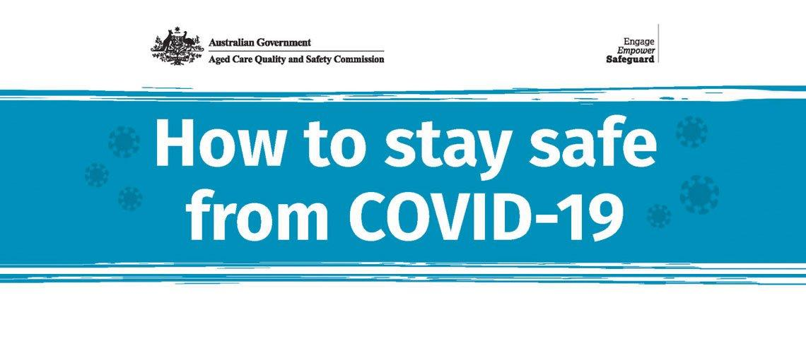 How to stay safe from COVID-19 Australian government banner.