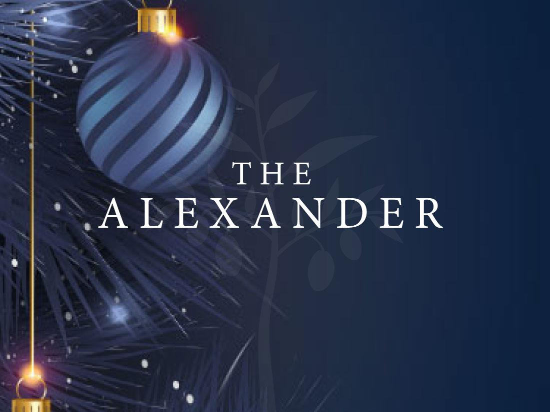 The Alexander Aged Care Christmas 2020 sign.